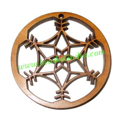 Handmade wooden pendants, size : 44x4mm - Handmade wooden pendants, size : 44x4mm