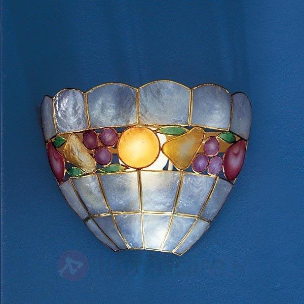 Applique OLIVIA en nacre avec décor - Appliques style Tiffany