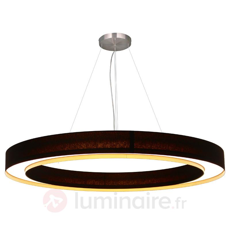 Suspension LED circulaire Cloud - Suspensions en tissu