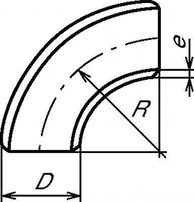 COUDE LR 90° ANSI SCHEDULE 10S  - ROULÉ SOUDÉ (5911)