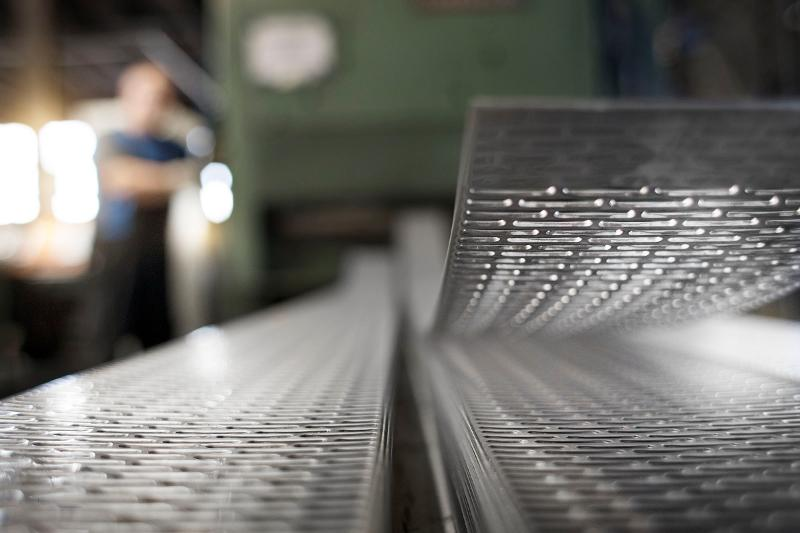 Perforated metal sheets from steel - null