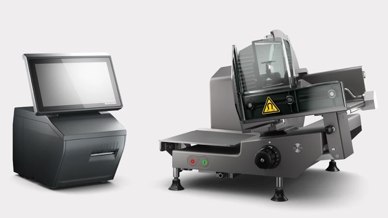 Manual vertical slicer and scale combination VSC280 Flex - slicers
