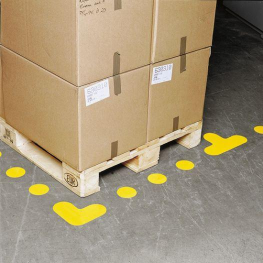 Floor marking symbol - foot print - differend colours available