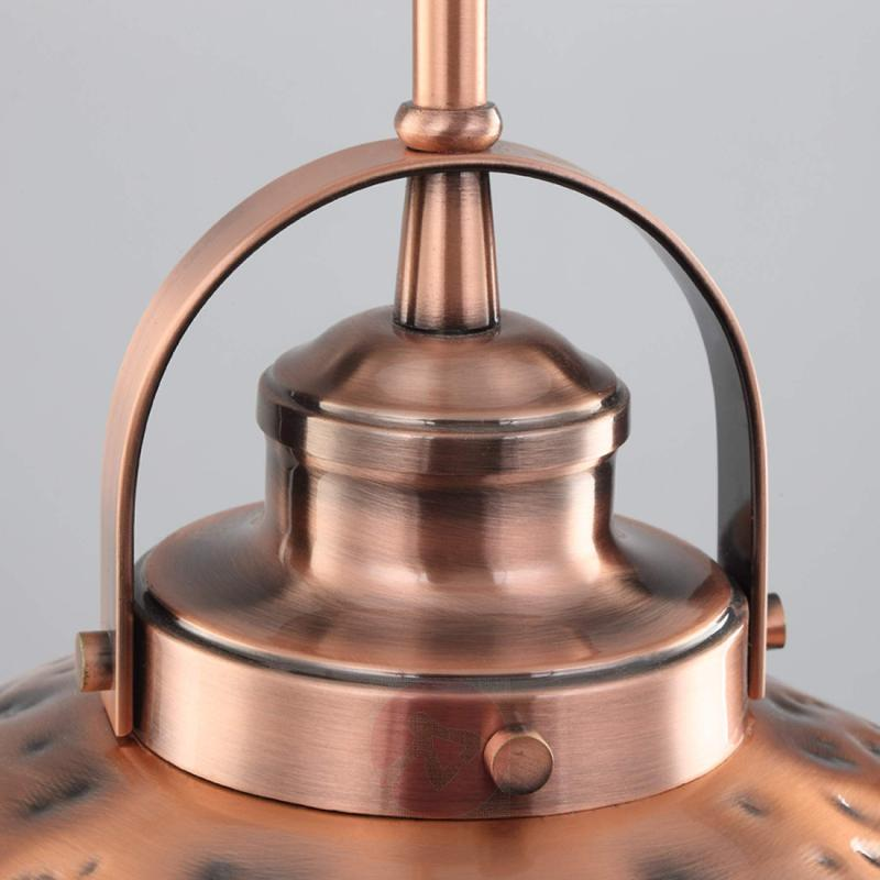 Metal hanging light Kristin with a copper finish - indoor-lighting