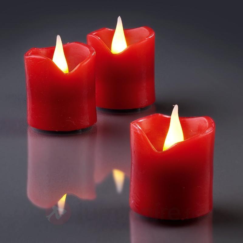 Set de 6 bougies en cire LED rouge - Décorations de Noël LED d'intérieur