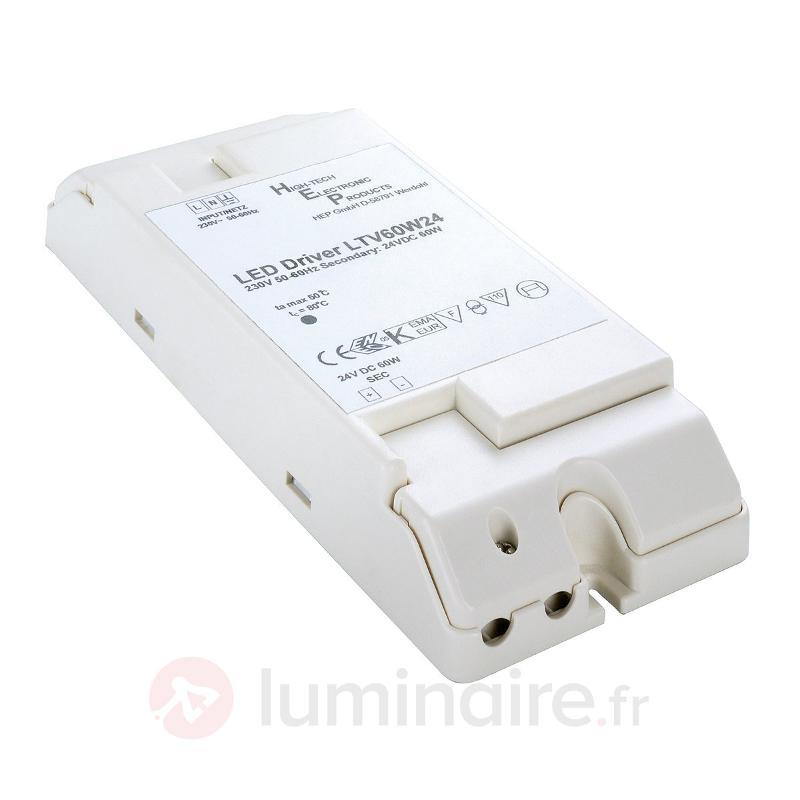 Transformateur pour LED 24V 60W - Transformateurs LED