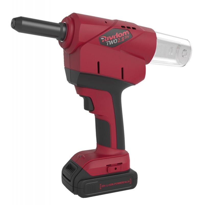 Battery Riveter RivdomTWO 2.8 20V - For high-strength blind rivets with 6.4 and 7.8 mm diameter