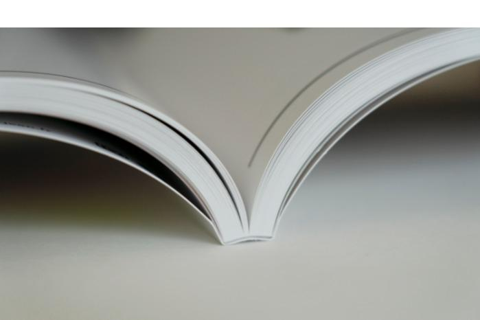 PERFECT BINDING  - nside pages are glued together and give a straight and flat binding.