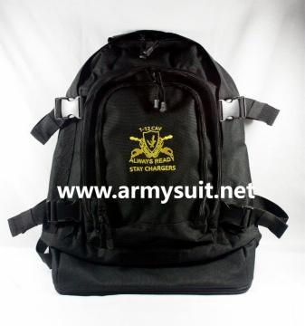 military backpack with embroidered LOGO - null