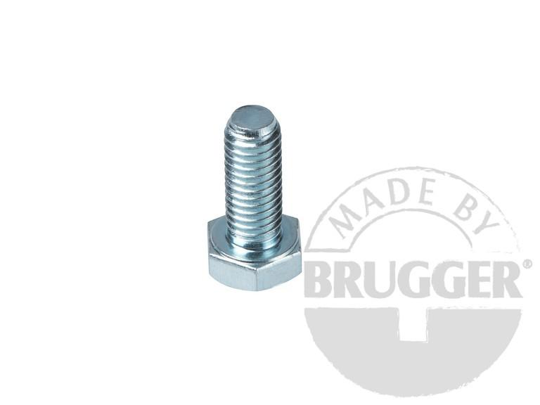 Flat pot magnets NdFeB, with external thread, galvanized - null