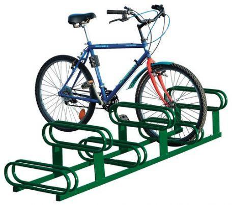 Support cycles 6 places décalées - Aménagement extérieur