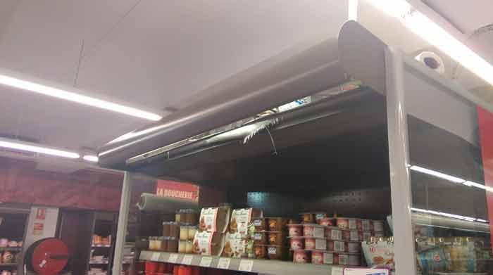Remise en peinture de meuble réfrigéré Libre Service -