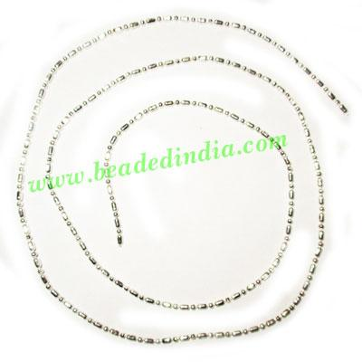 Silver Plated Metal Chain, size: 1.5mm, approx 102.3 meters  - Silver Plated Metal Chain, size: 1.5mm, approx 102.3 meters in a Kg.