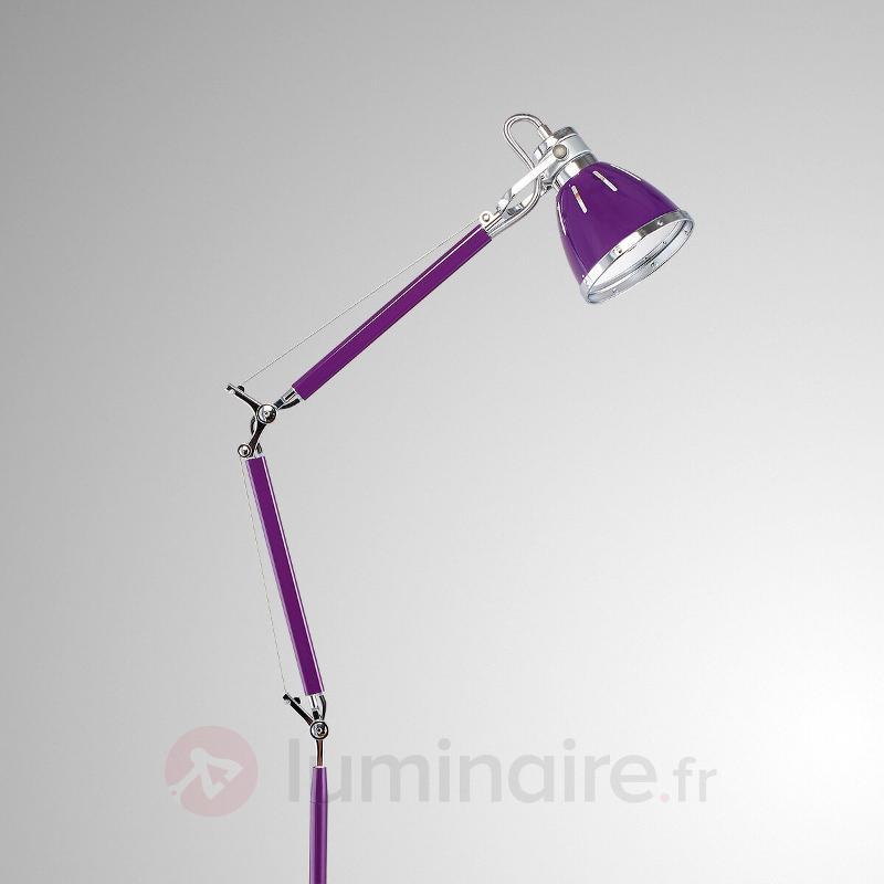Lampadaire Jerona réglable, violet - Tous les lampadaires