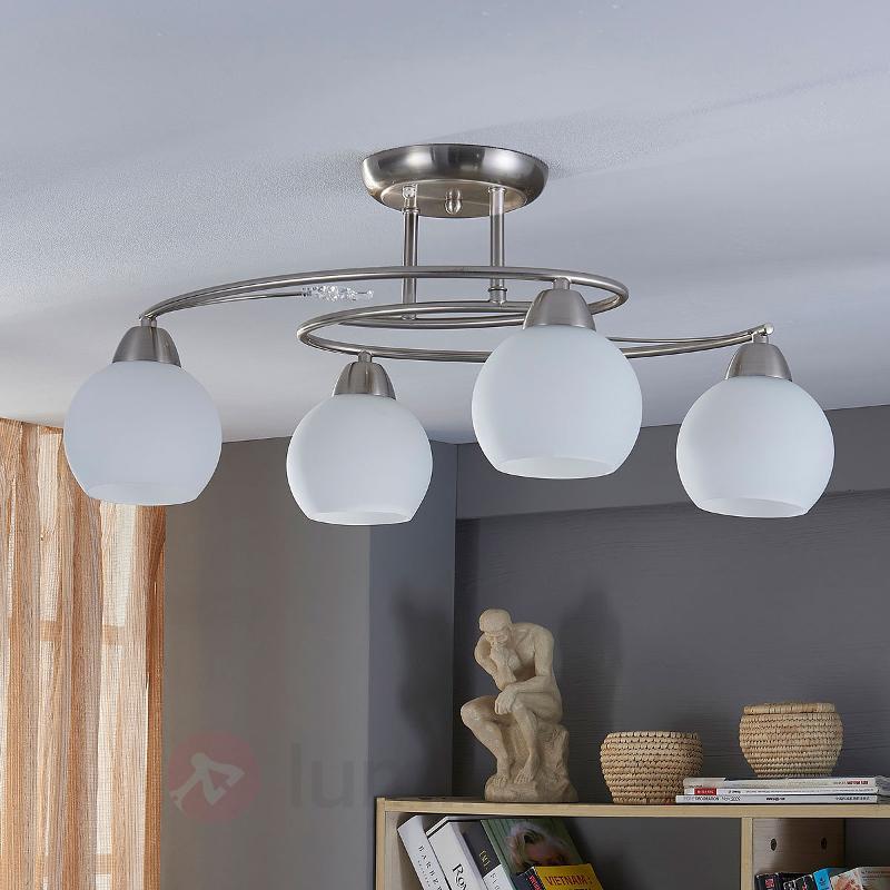 Plafonnier à quatre lampes Svean - Plafonniers chromés/nickel/inox