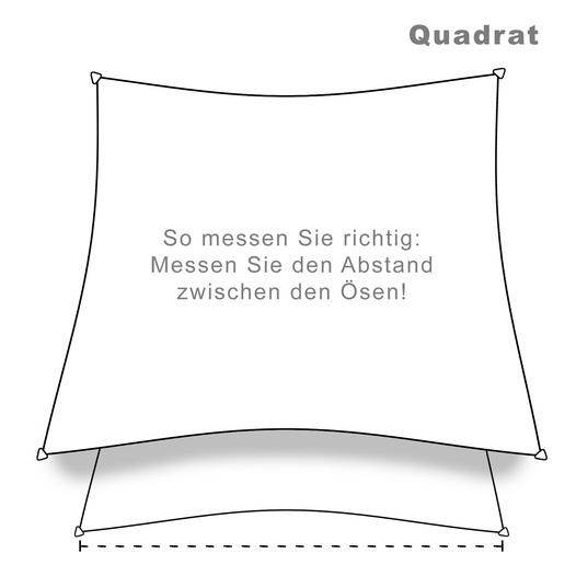 hanSe® Marken Sonnensegel 100% Polyester Quadrat 5x5 m... - null