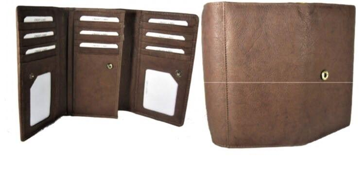 LEATHER LADIES WALLET - LEATHER LADIES WALLET IN COW LEATHER