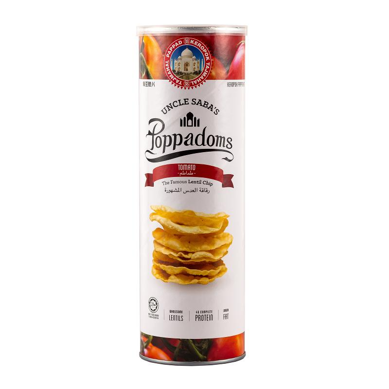 Poppadoms lentils chips - Tomato Ketchup - 70 g