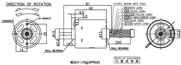 10-30V 10W-20W 6000-9000RPM 36*40 controller Nichibo Brushle - gearmotor pump robot