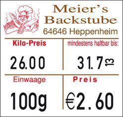 Labels - Food labeling
