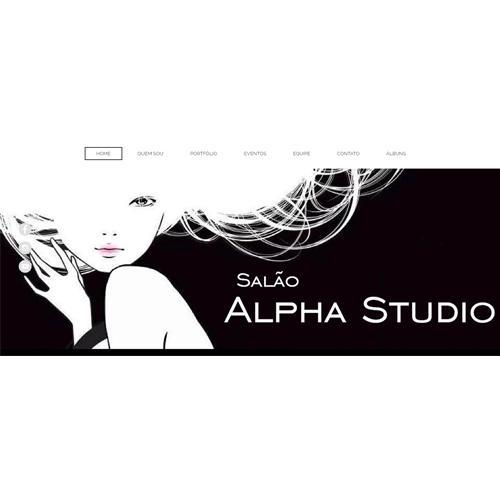 Criação do Website para o Salão de Beleza Alpha Studio - Criação 100% 7ing Site