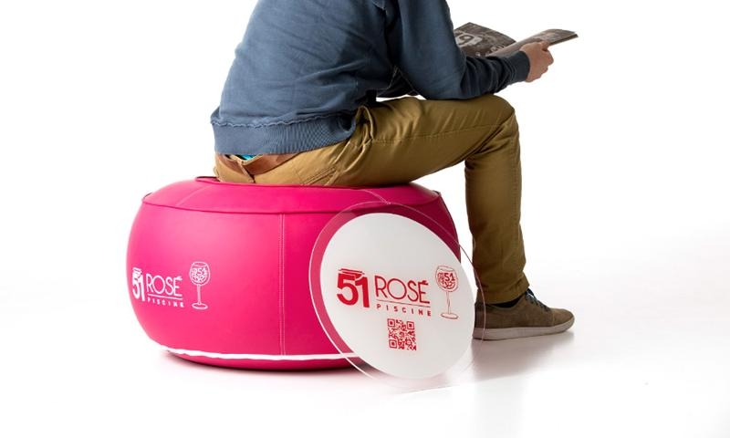 Pouf gonflable - Mobiliers gonflables personnalisables