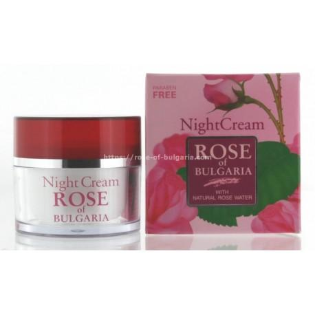 Crème de nuit à l'eau de rose - Soin visage pour Femme