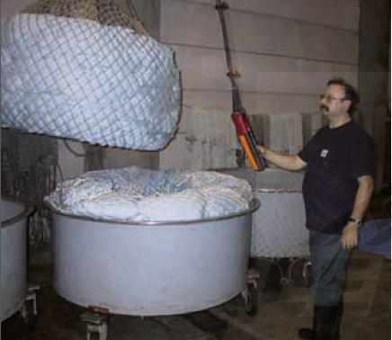 Filets noués - en polyéthylène ou polyamide