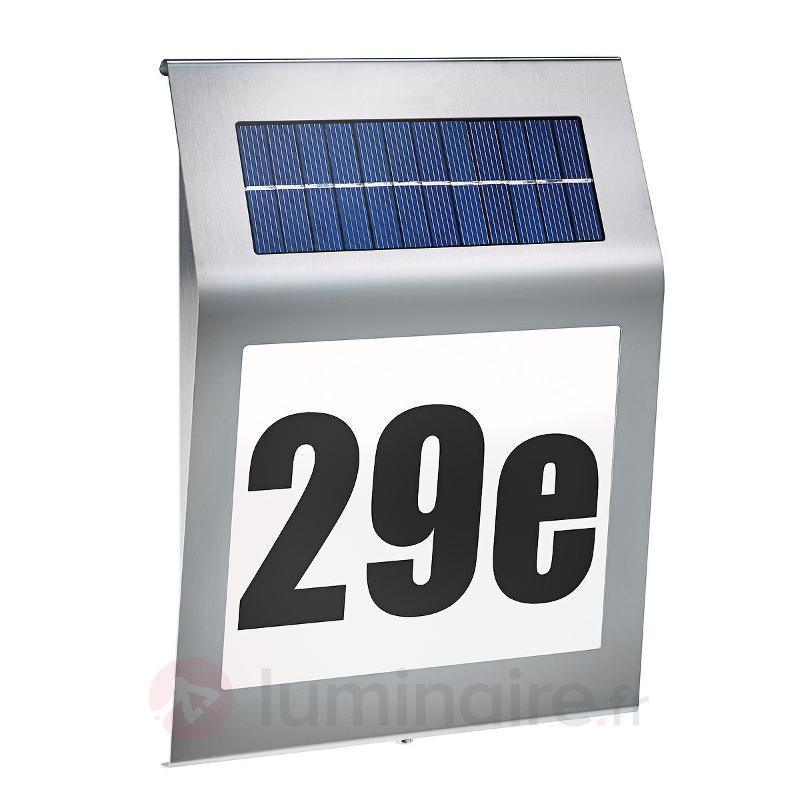Numéro de maison lumineux solaire au design stylé. - Toutes les lampes solaires