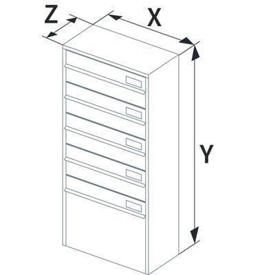 APARTMENT LETTER BOX - 92X