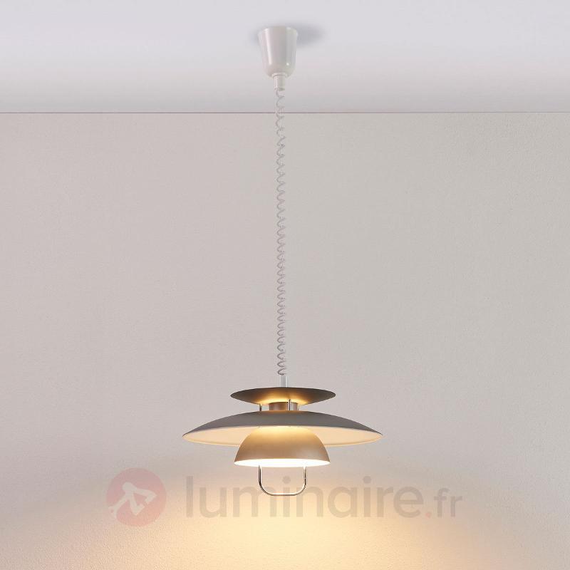 Suspension LED pour table à manger Nadija, grise - Cuisine et salle à manger