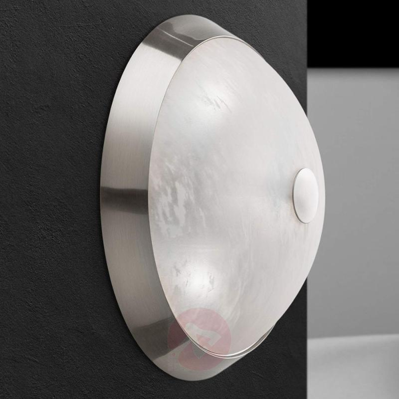 Jaya ceiling light in matt nickel, 34 cm - indoor-lighting