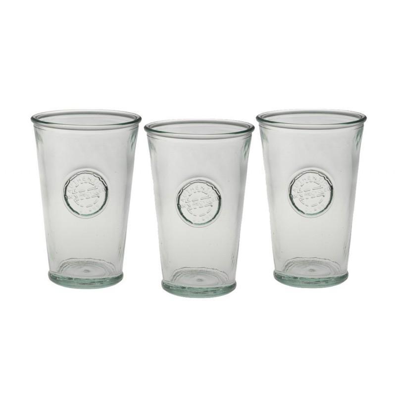 Lot de 3 verres hauts Authentic en verre recyclé - Vaisselle de Table