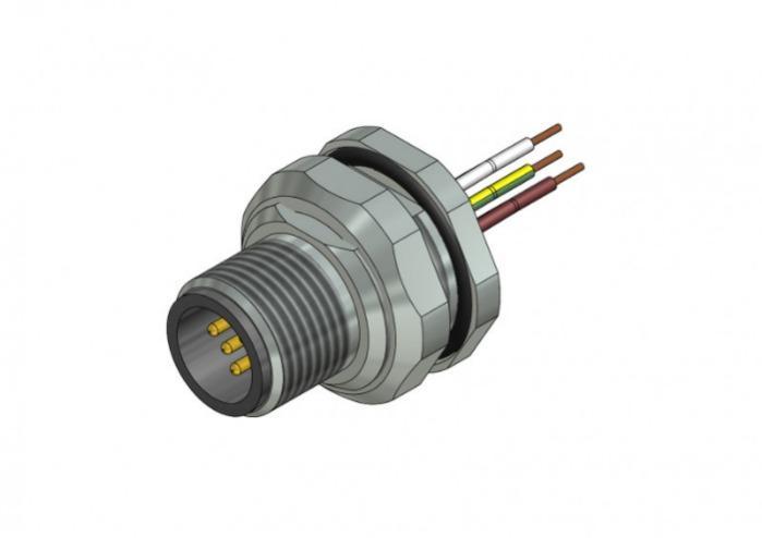 M12x1 Panel mount connectors - M12x1 Panel mount connectors