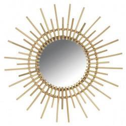 Miroir en rotin soleil GM - Déco