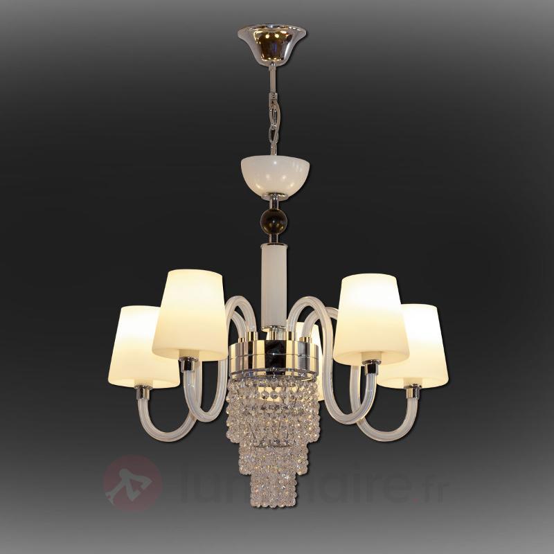 Lustre Marina à éclairage LED 5 lampes - Lustres à abat-jour