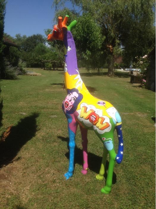 Girafe en résine 320 cm - Girafe grandeur nature en résine fibrée