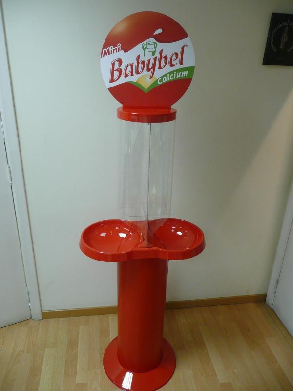 Réalisations Carton - Displays-présentoirs - Stop-trottoir/Urnes - Démonstration Babybel