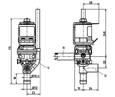 Dispense valve, DN 8 - 46.008.104