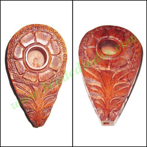 Handmade rosewood smoking pipe, size : 80x47x17mm - Handmade rosewood smoking pipe, size : 80x47x17mm