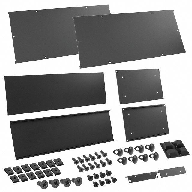 "CHASSIS 8X16.6X5.25"" BLACK - Hammond Manufacturing RM3U1908SBK"