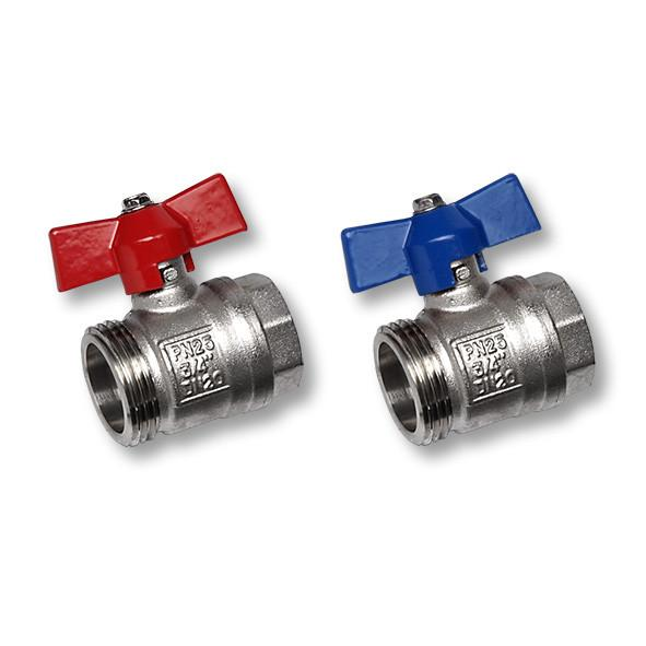 Kugelhahnset VT-KH-S - SANHA®-Heat - Kugelhahnset für Vor- und Rücklauf