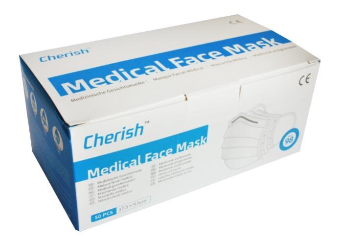 Medizinische Mund-Nasen-Maske (Typ IIR) - Hergestellt nach DIN EN 14683:2019