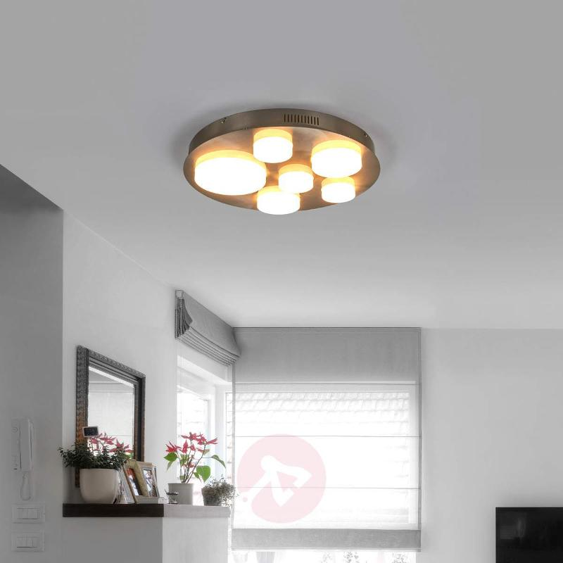 Bright, round LED ceiling lamp Leah - Ceiling Lights