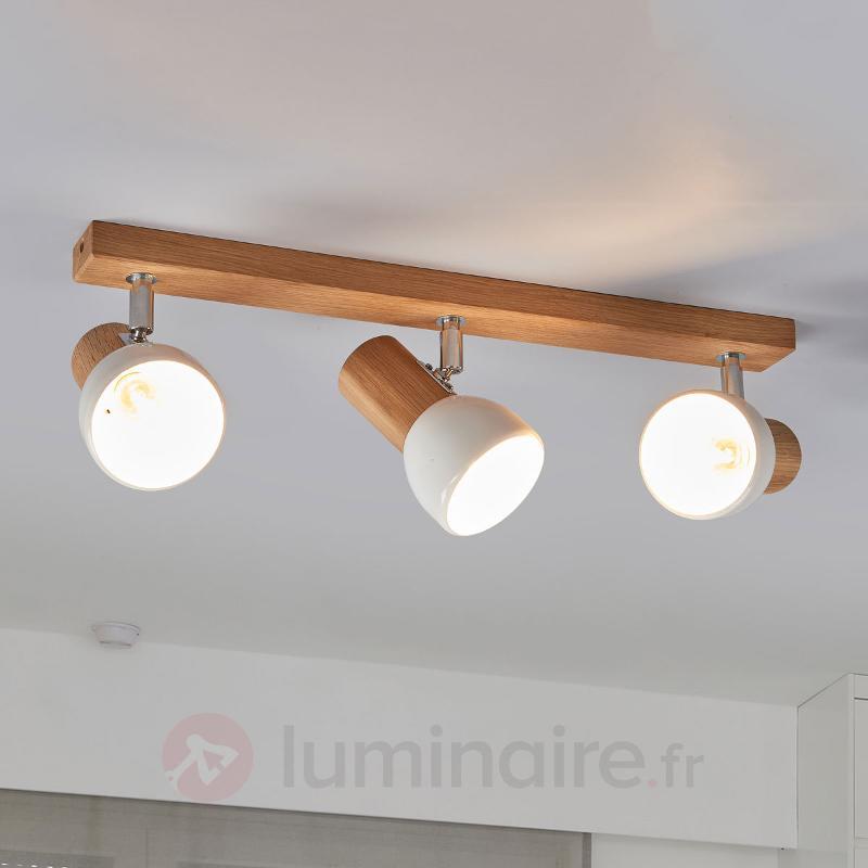 Svenda - plafonnier bois à trois lampes - Plafonniers en bois