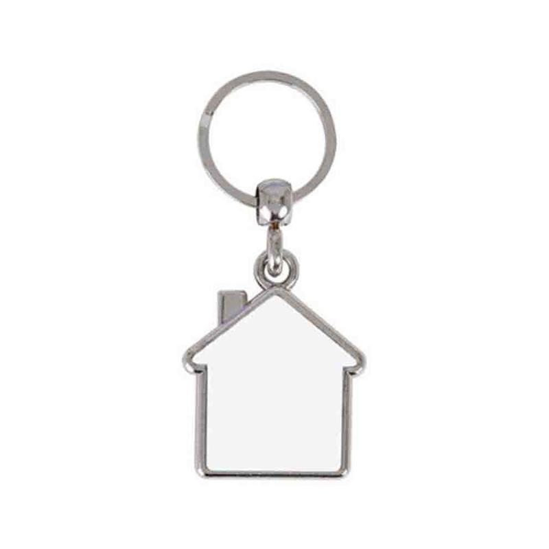 Porte-clés maison 2 faces - Porte-clés métal