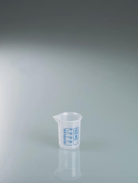 Vasos para laboratorio, vasos Griffin de PP, escala azul - Vaso de plástico, PP, muy transparente, dispositivo de medición, equipo de labo