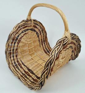 Panier à bois osier blanc & brut  - L.45