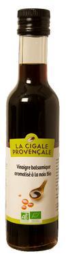 Vinaigre Balsamique BIO Aromatisé Noix  - 6 % d'acidité La Cigale Provençale