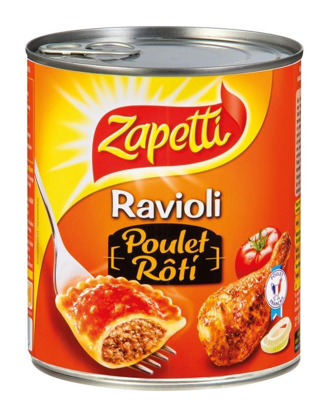 ZAPETTI - RAVIOLI POULET RÔTI 400g - Epicerie salée